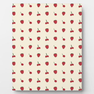 Cherries & Strawberries Pattern Plaque