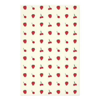 Cherries & Strawberries Pattern Stationery Design