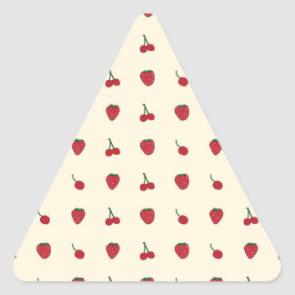 Cherries & Strawberries Pattern Triangle Sticker