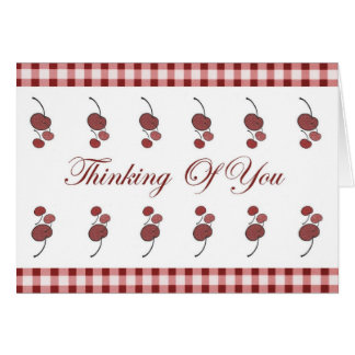 Cherries Thinking Of You Card (Large Print)