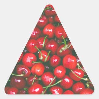 Cherries... Triangle Sticker