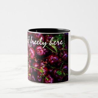 Cherries Two-Tone Coffee Mug