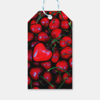 cherries with heart love gift tags