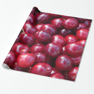 Cherries wrapping paper