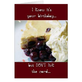 Cherry And Kirsch Cheesecake Birthday Card - Humor