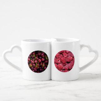 Cherry And Raspberry Coffee Mug Set