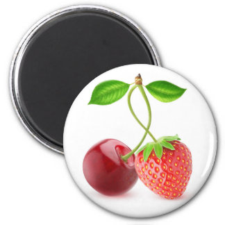 Cherry and strawberry together magnet