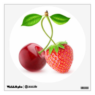 Cherry and strawberry together wall sticker