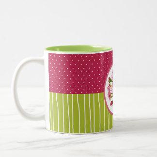Cherry Bloom Two-Tone Coffee Mug