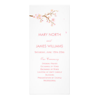 Cherry Blosoom Wedding Program Rack Cards