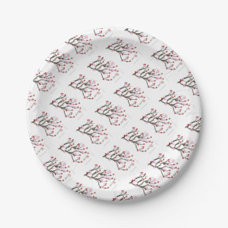 cherry blossom 10 Tony Fernandes 7 Inch Paper Plate