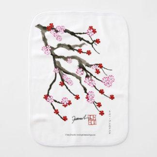 cherry blossom 10 Tony Fernandes Burp Cloth