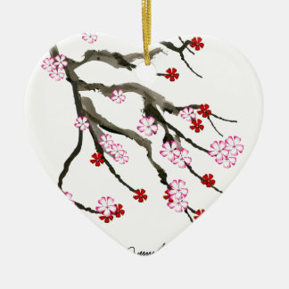 cherry blossom 10 Tony Fernandes Ceramic Ornament