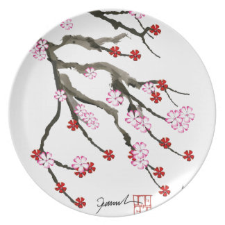 cherry blossom 10 Tony Fernandes Party Plate