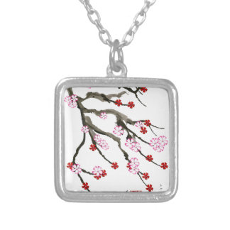 cherry blossom 10 Tony Fernandes Silver Plated Necklace