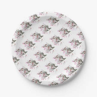 cherry blossom 11 Tony Fernandes 7 Inch Paper Plate