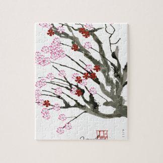 cherry blossom 11 Tony Fernandes Jigsaw Puzzle