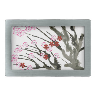 cherry blossom 11 Tony Fernandes Rectangular Belt Buckle