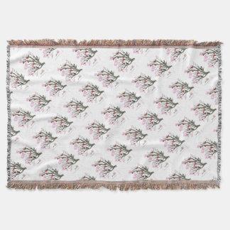 cherry blossom 11 Tony Fernandes Throw Blanket