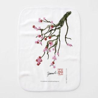 cherry blossom 12 Tony Fernandes Burp Cloth
