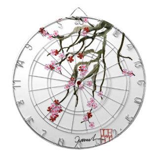 cherry blossom 12 Tony Fernandes Dartboard With Darts