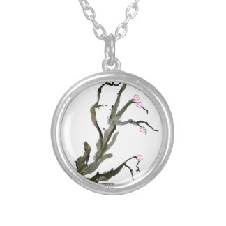 Cherry Blossom 15 Tony Fernandes Silver Plated Necklace