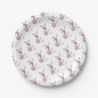 Cherry Blossom 16 Tony Fernandes 7 Inch Paper Plate