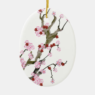Cherry Blossom 16 Tony Fernandes Ceramic Ornament