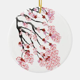 Cherry Blossom 18 Tony Fernandes Ceramic Ornament