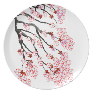 Cherry Blossom 18 Tony Fernandes Plate