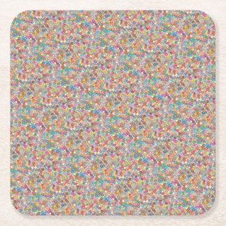 Cherry Blossom Abstract Art Sakura Party Supplies Square Paper Coaster