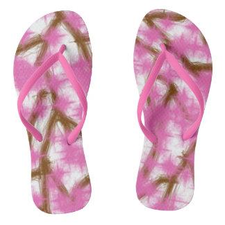 Cherry Blossom Adult Slim Flip Flops