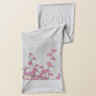 Cherry Blossom American Apparel Sheer Jersey Scarf
