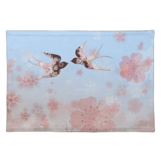 Cherry Blossom and Floral Swallows American MoJo P Place Mat