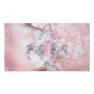 Cherry Blossom and Jewel Symbol Poster