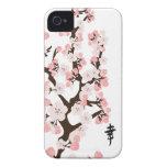 Cherry Blossom and Kanji