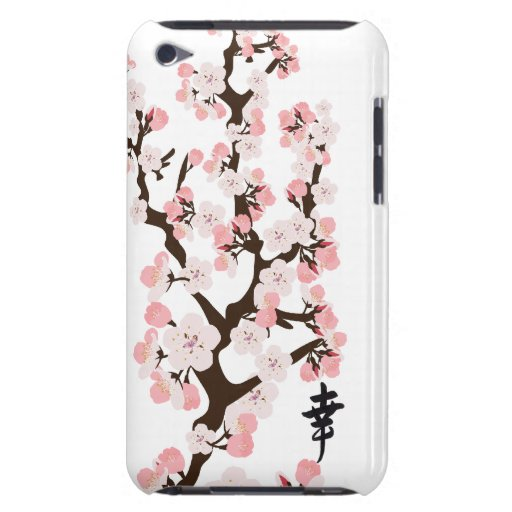 Cherry Blossom and Kanji Case-Mate Case Barely There iPod Cover