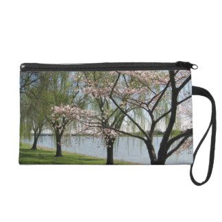 Cherry Blossom and Willow Tree Wristlet