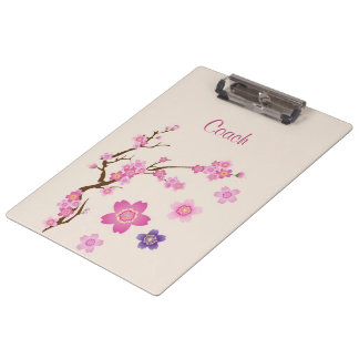Cherry Blossom Art Clipboard