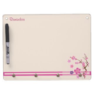 Cherry Blossom Art Dry Erase Board With Keychain Holder