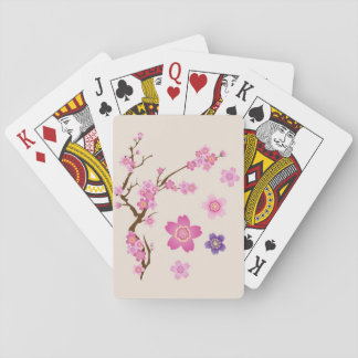 Cherry Blossom Art Playing Cards
