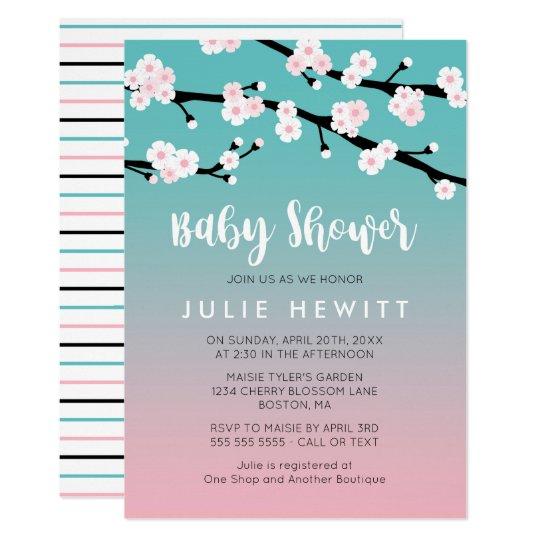 Cherry Blossom Baby Shower Card