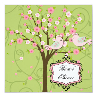 Cherry Blossom Birds Bridal Shower Invitation