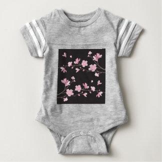 Cherry Blossom - Black Baby Bodysuit