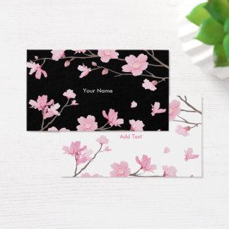 Cherry Blossom - Black Business Card