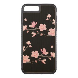 Cherry Blossom - Black Carved iPhone 8 Plus/7 Plus Case
