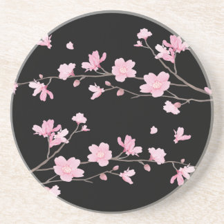 Cherry Blossom - Black Coaster