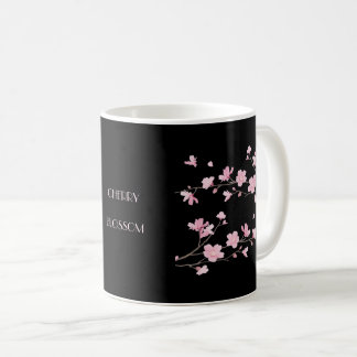 Cherry Blossom - Black Coffee Mug
