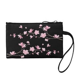 Cherry Blossom - Black Coin Purse