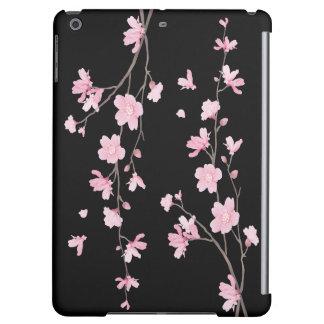 Cherry Blossom - Black iPad Air Cases
